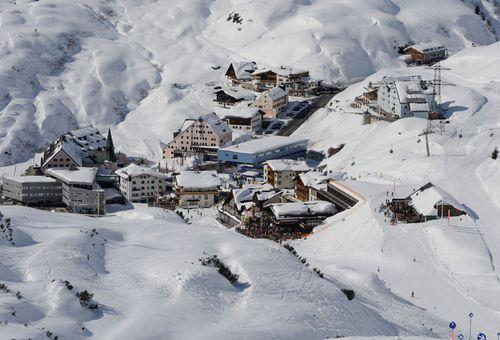 The popular ski resort of St Anton in Austria.