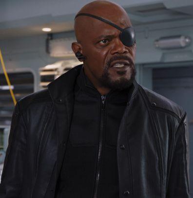 Samuel L. Jackson plays Nick Fury in the Marvel movies.