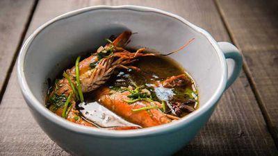 "Recipe: <a href=""http://kitchen.nine.com.au/2016/12/13/14/01/rich-shrimp-broth"" target=""_top"" draggable=""false"">Rich shrimp (prawn) broth</a>"