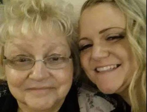 Kelly Lewis wept when she saw the footage of her mother in court. Photo: Facebook.