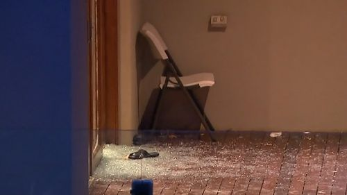 It's believed up to 60 partygoers were inside the home in the moments before the brawl. Picture: 9NEWS