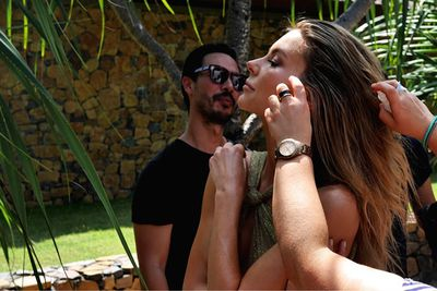 The glam squad works their magic on Jen. We bet the anti-frizz spray got a workout in steamy Lombok!