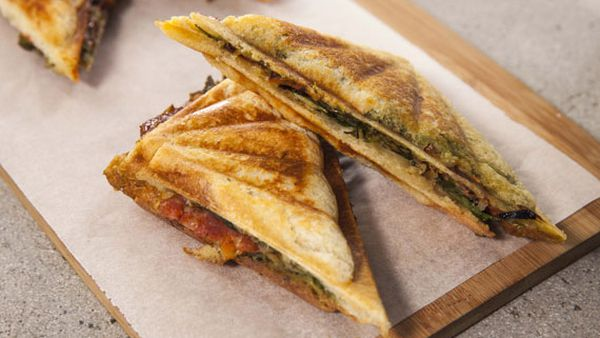 Indian jaffles two ways