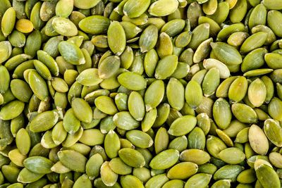 Pumpkin seeds: 262mg per 100g