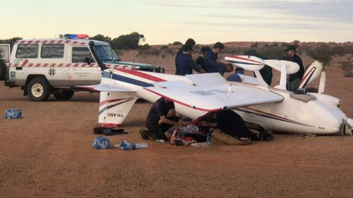 The pilot and a passenger were treated at the scene before being taken to Royal Adelaide Hospital.