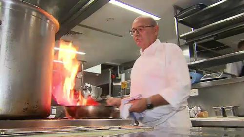 Tony Percuoco runs successful restaurant Tartufo. (9NEWS)