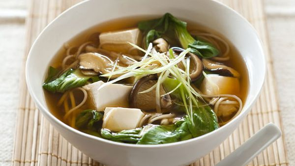 Weight Watchers' tofu and mushroom miso soup