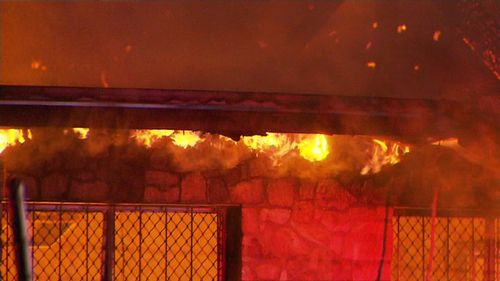 Police are now investigating the blaze which is believed to have been deliberately lit.