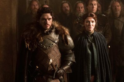 Robb and Catelyn Stark on Game of Thrones
