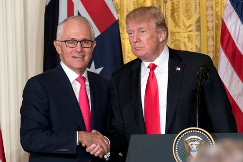 Australian Prime Minister Malcolm Turnbull met with Mr Trump back in February. Picture: AP