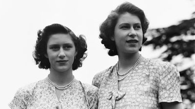 Princess Margaret and Princess Elizabeth at Windsor, July 1946