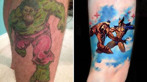 Photos of his two tattoos have also been released.