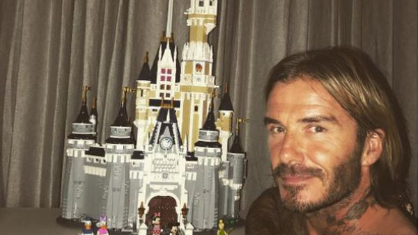 David Beckham - superstar Lego builder and all-round awesome dad. Image: Instagram/@davidbeckham.