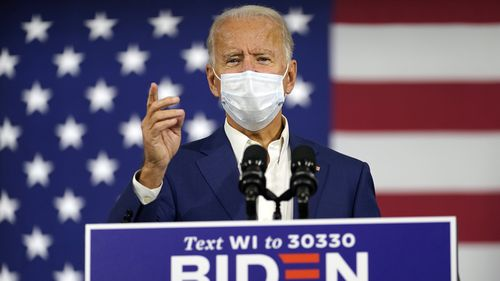 "Joe Biden says Donald Trump ""panicked"" in the face of the coronavirus pandemic."