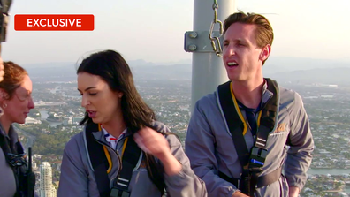 Exclusive: Aleks freaks out when taking on the Skypoint Tower Climb