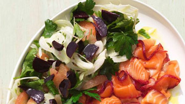 Beetroot, fennel, parsley & pink grapefruit salad