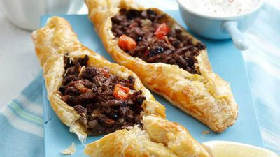 """Middle Eastern pasties - <a href=""""http://kitchen.nine.com.au/2016/05/16/10/59/middle-eastern-pasties-for-10"""" target=""""_top"""">view recipe</a>"""