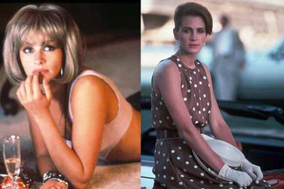 """Julia Roberts serves some serious post-makeover attitude in this classic street-walker to socialite comedy. Who can forget that famous """"F You"""" moment with the stuck up shop assisitant on fancy Rodeo Drive?"""