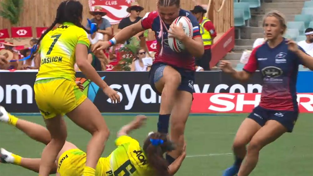 Russia captain cops eight-game sevens ban for kicking Australia star Evania Pelite