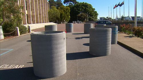 The bollards weigh more than a tonne and will stop any potential lone wolf attacks in a vehicle.