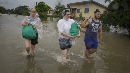 Residents have been evacuated as the floods reach record levels.