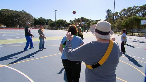 The initiative is designed to allow senior citizens the chance to reconnect with sport and also get our of their homes. Picture: 9NEWS.
