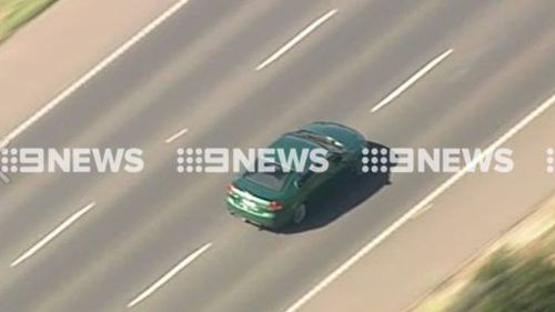 The car was filmed hurtling down the Princes Highway. (9NEWS)