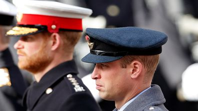 Prince Harry Prince William ceremony