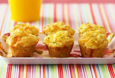 Mini corn and chive muffins