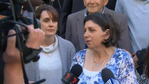The victim's family spoke outside court today.