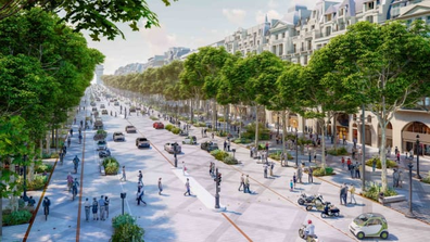 The Champs-Élysées avenue will become greener and more pedestrian-friendly.