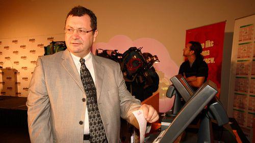 Intralot Australia managing director John Katakis at the Victorian launch in 2008. (AAP)