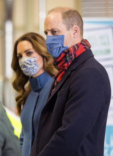Prince William and Catherine Middleton meet with frontline workers in Scotland.