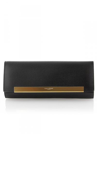 "<p><a href=""http://www.cosette.com.au/designers/saint-laurent/saint-laurent-signature-lutecia-black-textured-leather-clutch.html"" target=""_blank"">Signature Lutetia Black Textured Leather Clutch, $989, Saint Laurent at cosette.com.au</a></p>"