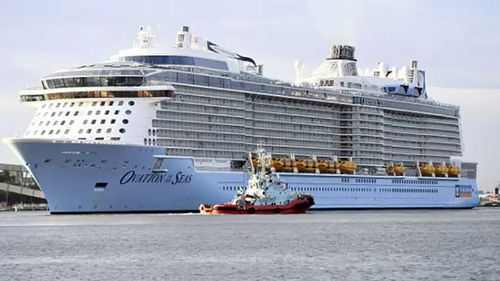 Ovation of the Seas, arrived in Hobart today after sailing for 14 days.
