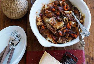 Braised pork ragu with porcini and muscat