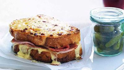"Recipe:&nbsp;<a href=""http://kitchen.nine.com.au/2016/05/16/16/35/croquemonsieur"" target=""_top"">Croque-monsieur</a>"