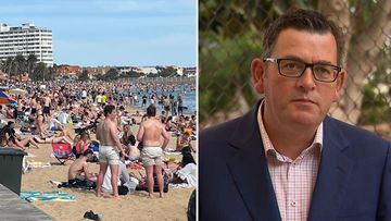 Premier's stern warning after thousands packed out Melbourne beaches