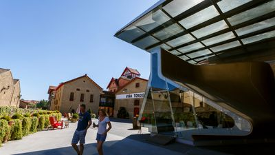 The R. Lopez de Heredia Vina Tondonia winery near Haro, Spain.