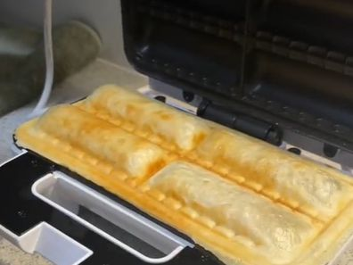 Kmart shopper makes 'sweet sausage rolls' from chocolate and puff pastry.