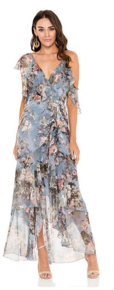 "<p><a href=""https://herwardrobe.com.au/collections/wedding/products/nicholas-arielle-floral-wrap-maxi-dress"">NICHOLAS Arielle Floral Wrap Maxi Dress</a></p> <p>Rental $169</p> <p>Retail $750</p>"
