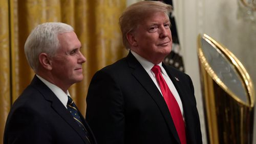 Vice President Pence and President Trump.