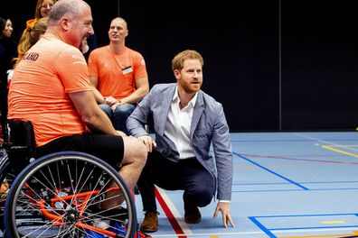 Prince Harry during the presentation of the Invictus Games The Hague 2020.