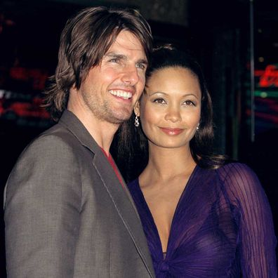Tom Cruise and Thandie Newton attend Mission: Impossible 2 premiere in 2000.