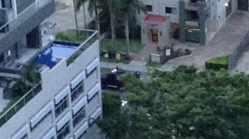 Police have surrounded a man in a residence on the Gold Coast. (Supplied)
