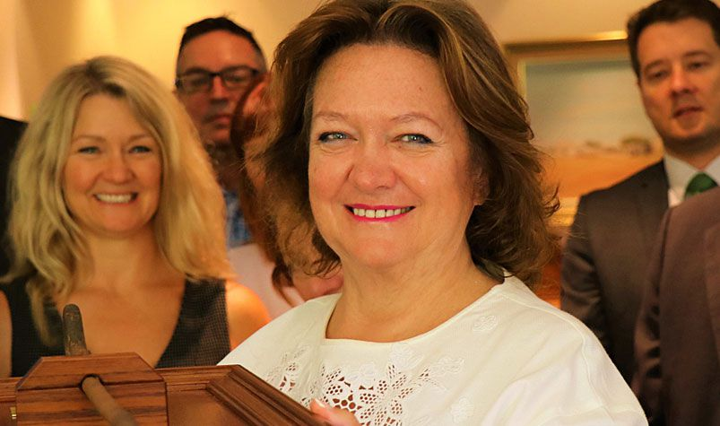 Gina Rinehart is one of just two Australians who own more than the poorest 20 percent of the country's population. (AAP)