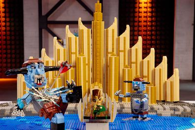 LEGO Masters 2020 Episode 11 Marvel Cinematic Universe Gabby and Ryan