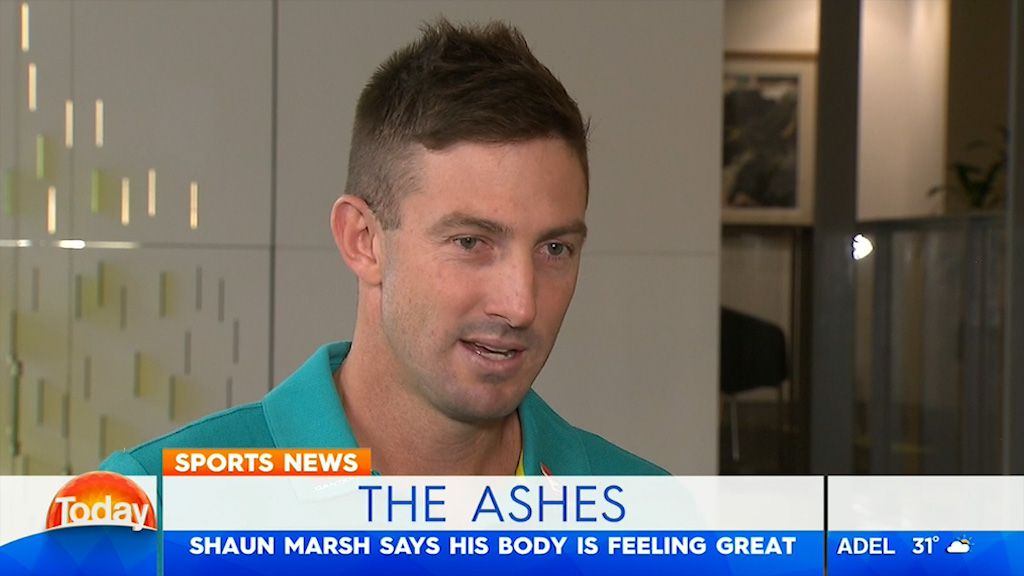 TODAY: Marsh ready for The Ashes