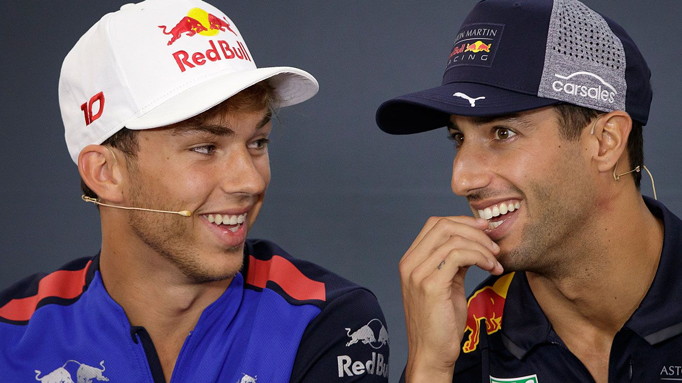 Daniel Ricciardo's generous act for Aston Martin Red Bull Racing replacement Pierre Gasly