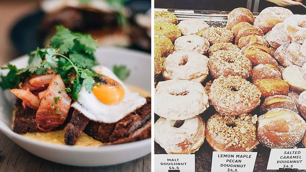 Crumbed pork schnitzel and range of doughnuts (Facebook)